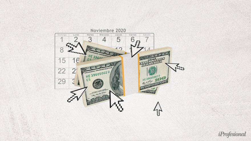 En diciembre cayó la demanda de dólar ahorro en comparación con noviembre