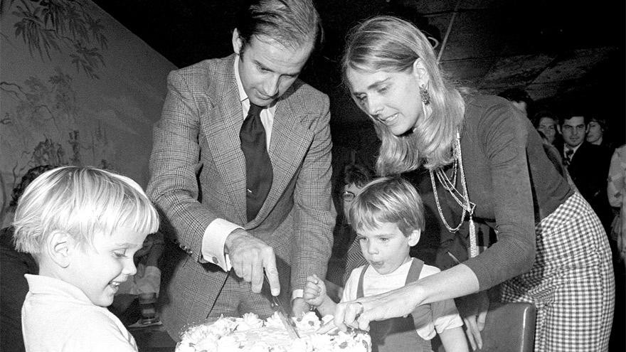Joe Biden en 1972. En diciembre de ese año, la tragedia se llevó a su esposa y a uno de sus hijos.