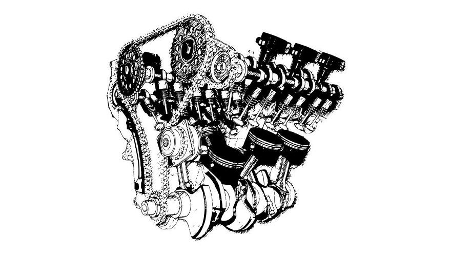 16 válvulas, una de las partes del motor.