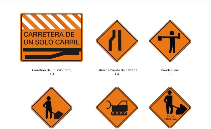 Señales de tránsito transitorias, atentos para el momento.