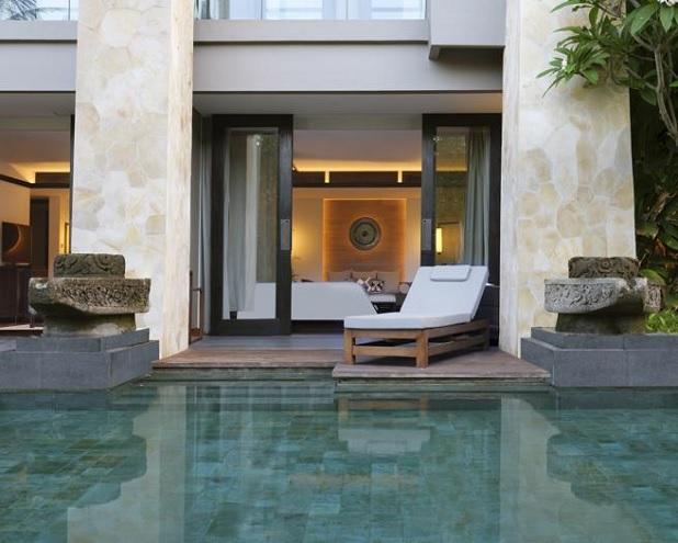 Algunas de las habitaciones del Apurva Kempinski cuentan con piscina privada