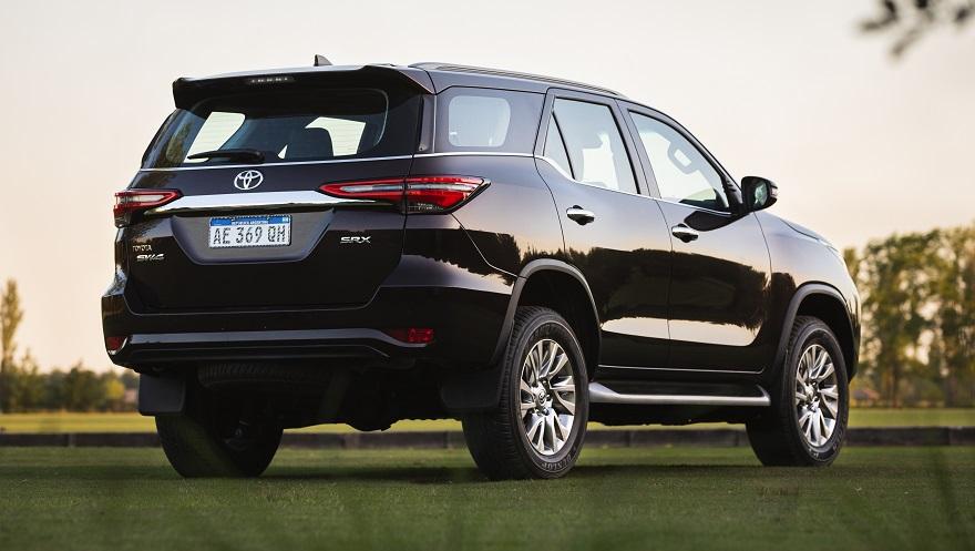 Los cambios traseros de la nueva Toyota SW4.