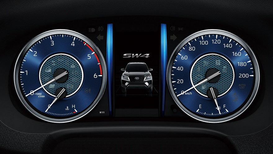 El color azul predomina en los relojes de la SW4.