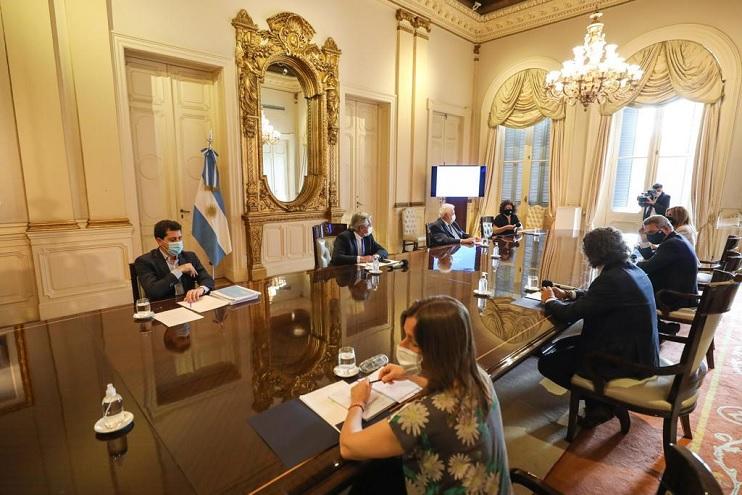 El presidente Alberto Fernández puso en marcha el Comité de Vacunación