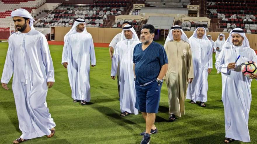 Maradona trabajó durante algunos años en los Emiratos Árabes Unidos