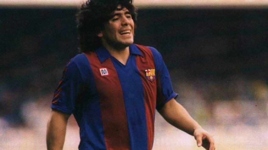 Diego Maradona jugó en el Barcelona durante dos años