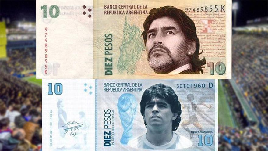 Billetes de Maradona: las propuestas que circulan en las redes.