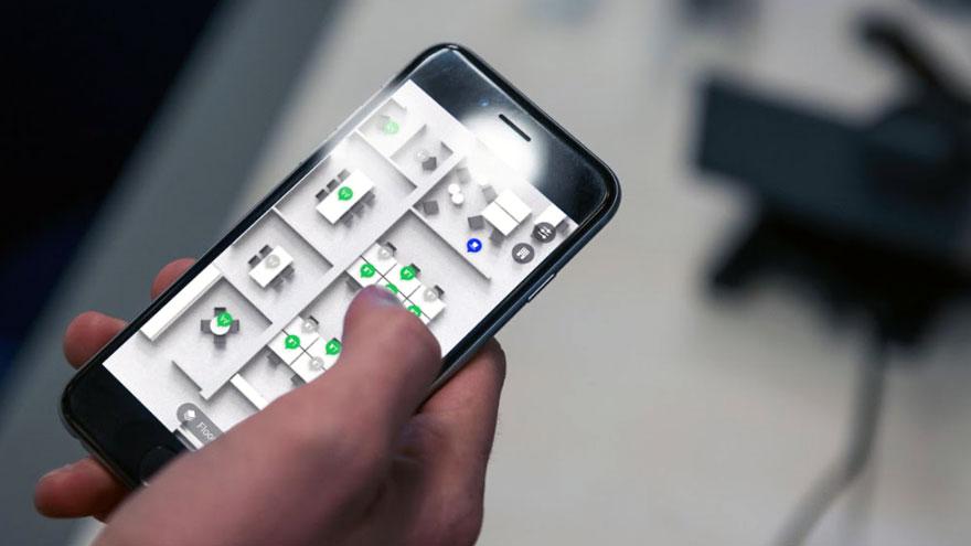 El sistema funciona con una aplicación en el teléfono móvil.