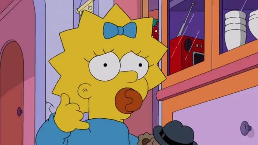 Maggie es la menor de los Simpson