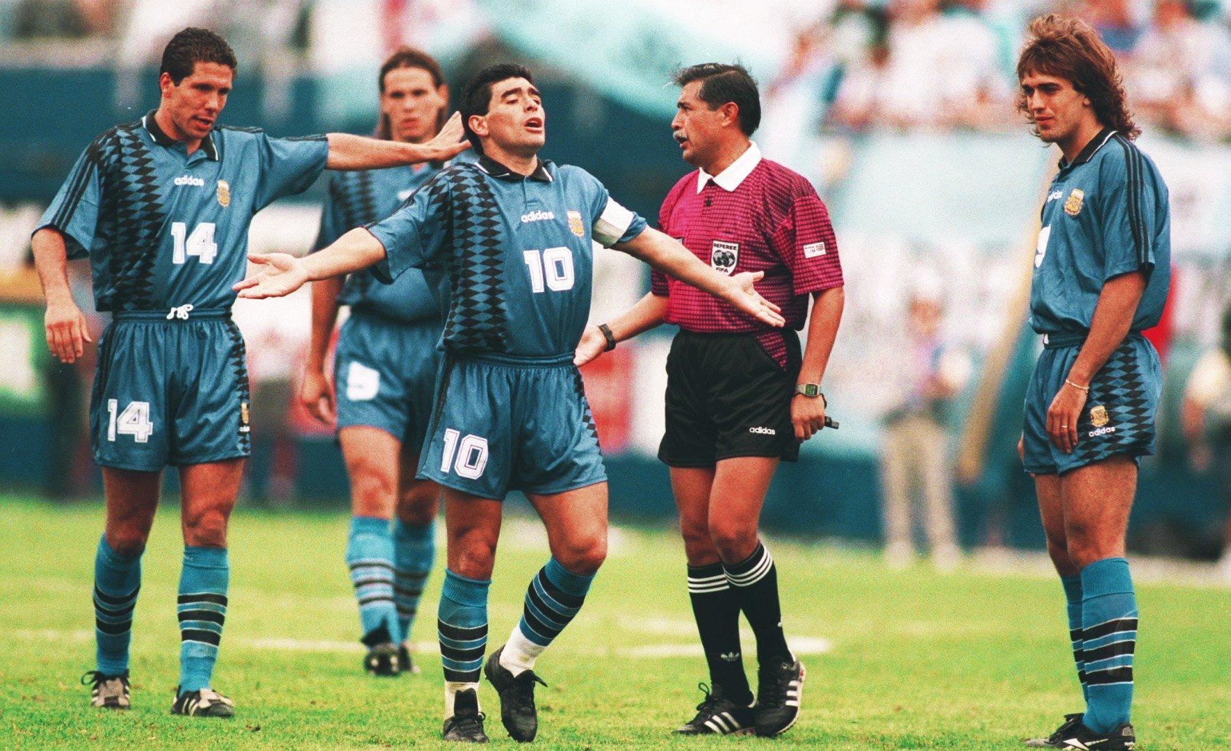 Maradona en el mundial de Estados Unidos de 1994