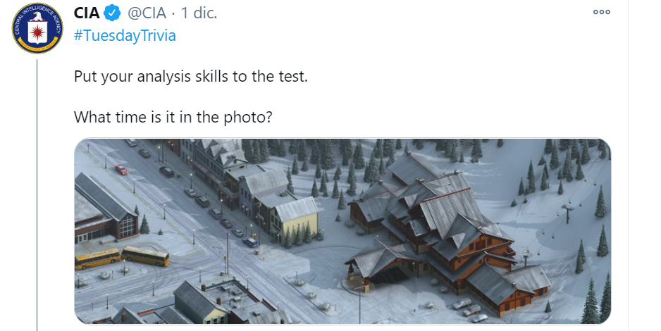 La imagen del desafío de la CIA