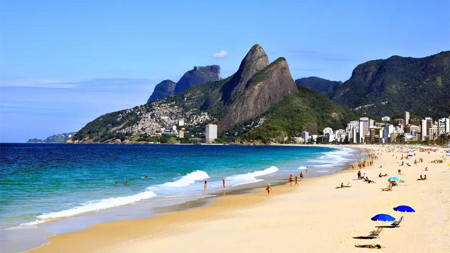 Las playas de Río de Janeiro, listas para recibir a los turistas.