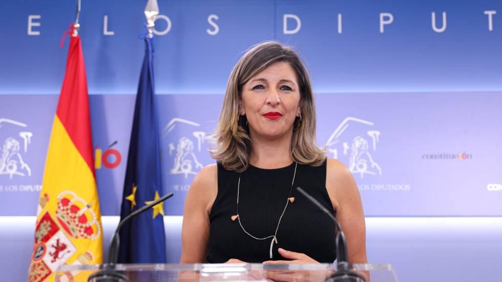 La ministra de trabajo del partido MAS, Yolanda Diaz