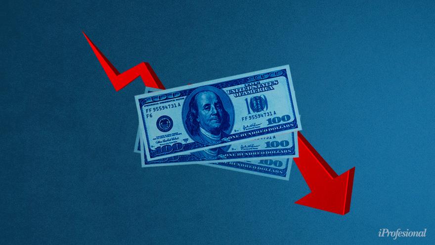 El precio del dólar blue se mantiene en baja, al igual que el dólar MEP y el contado con liquidación, que son referencias.