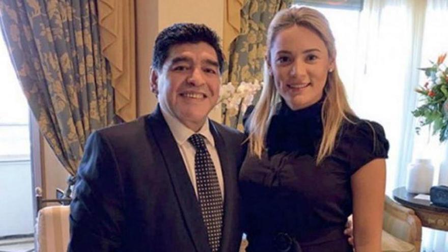 Rocío Oliva y Diego Maradona estuvieron en pareja durante muchos años