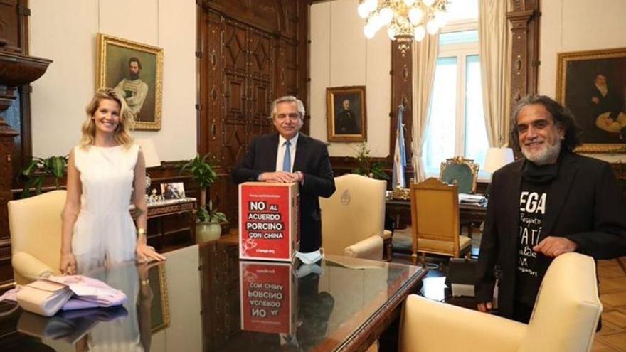 Liz Solari y Manuel Alfredo Martí se reunieron en Casa Rosada para manifestarle al presidente su preocupación por el acuerdo