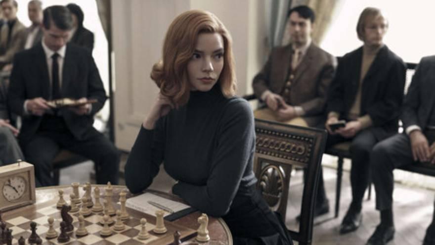 Gambito de dama se convirtió en una de las series más populares en Netflix