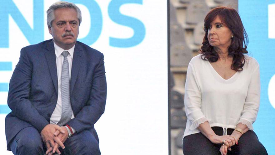 Alberto Fernández y Cristina Fernández, dos caras de un mismo Gobierno.