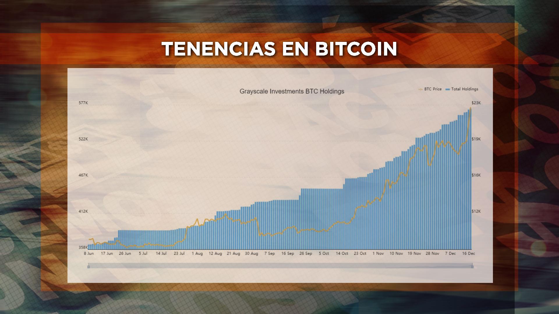 Así creció el bitcoin durante este año