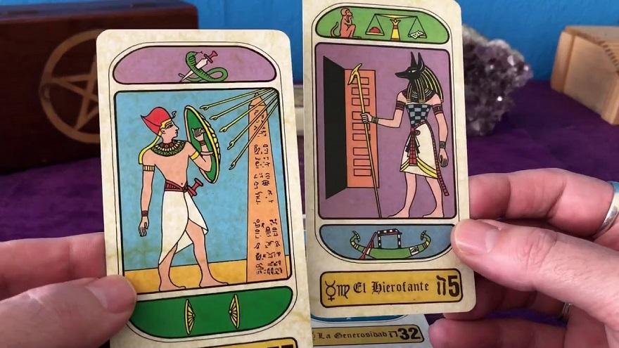 Son varias las cartas que componen el tarot egipcio.