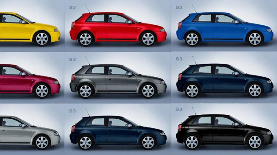 Los colores azul, amarillo, rojo y violeta aumentaron sus registros en los autos vendidos el año pasado