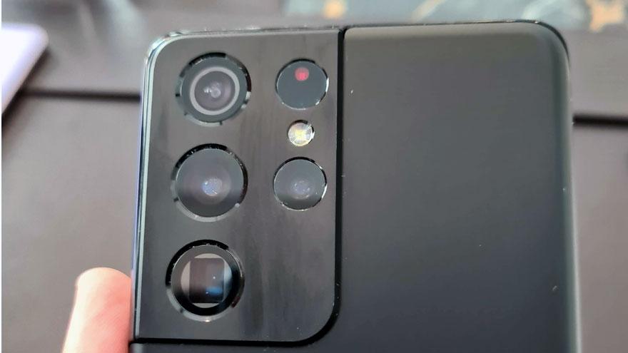 Módulo de cámaras traseras del Samsung Galaxy S21 Ultra.