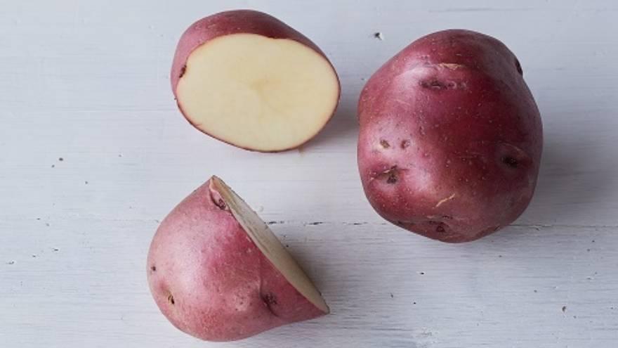 Las papas rojas son una de las variedades con más almidón