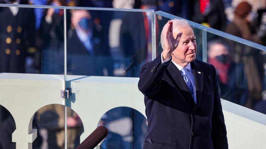 Joe Biden durante su asunción a la Presidencia de Estados Unidos