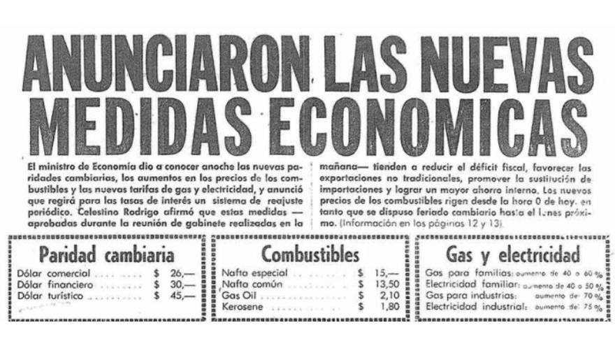 Qué fue el RODRIGAZO y cómo impactó en la ECONOMÍA argentina
