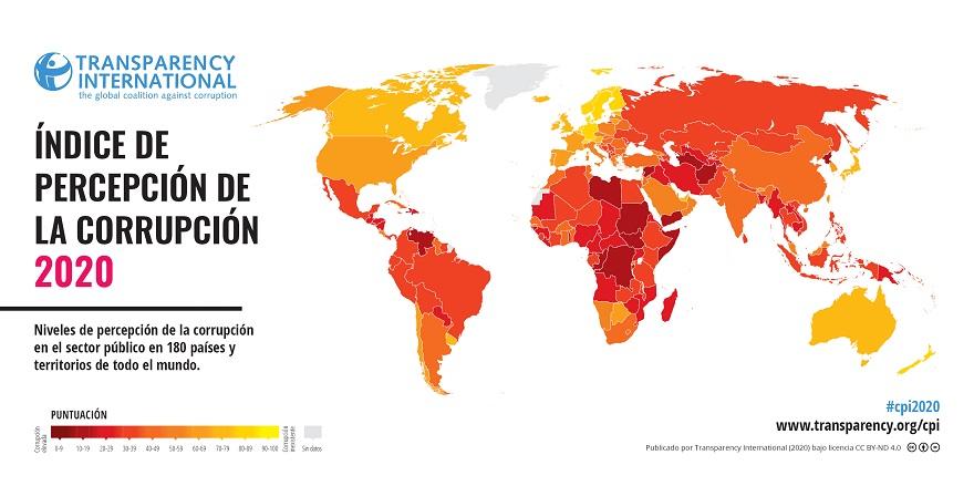 Índice de Corrupción 2020 de Transparencia Internacional