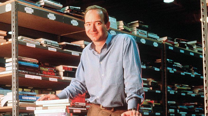 Un joven Jeff Bezos, en sus comienzos con Amazon