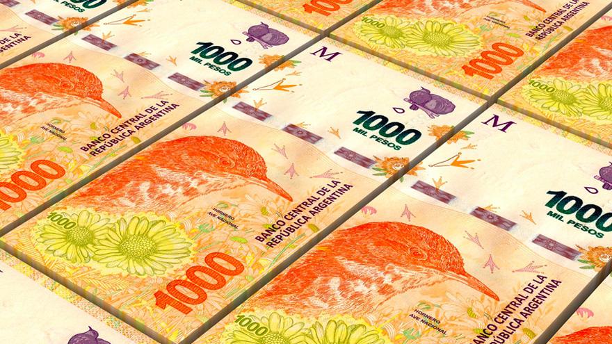 El de $1.000 hoy es la denominación más grande en Argentina. Cuál debería ser la más alta