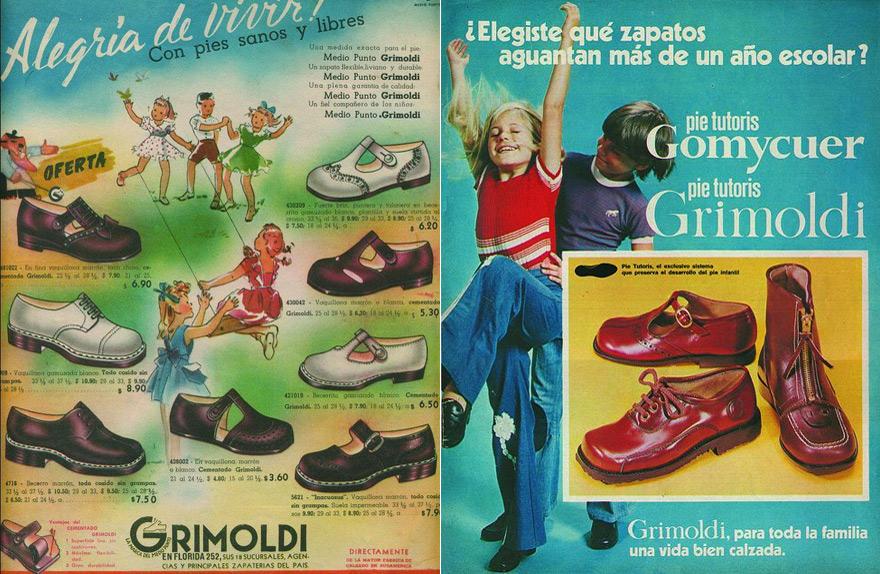 A lo largo de los años, Grimoldi siempre mantuvo una fuerte presencia en el ámbito del calzado escolar.