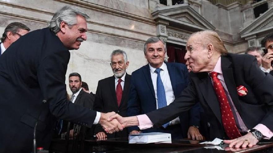 Alberto Fernández fue funcionario durante el menemismo: según Cavallo, no cuenta con el margen político para introducir reformas estructurales