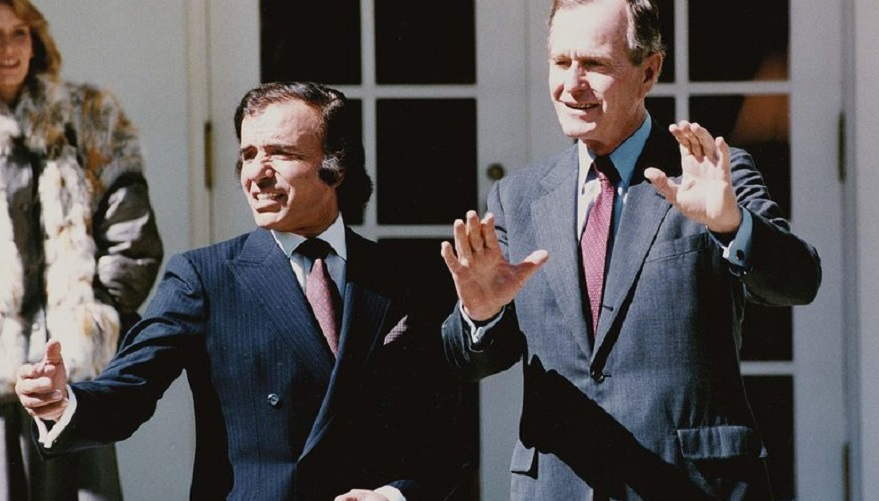 Menem dio un giro drástico en la política exterior y se alió con George Bush