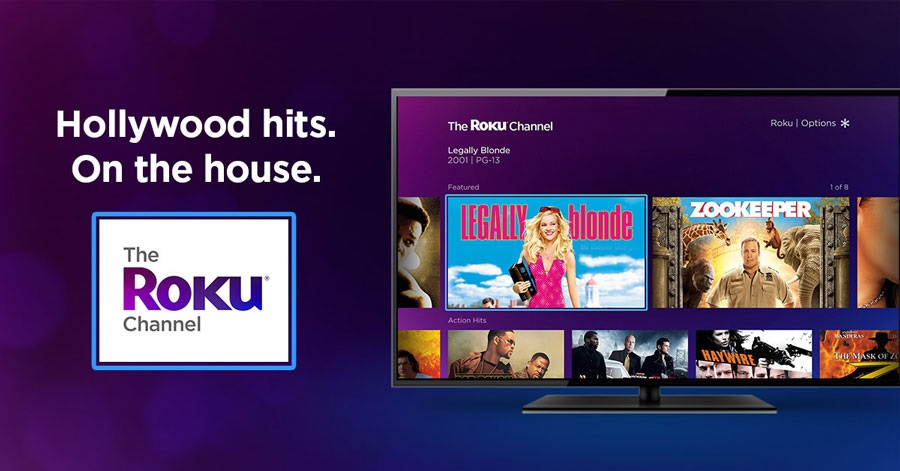 The Roku Channel, ideal entre las páginas para ver películas gratis.