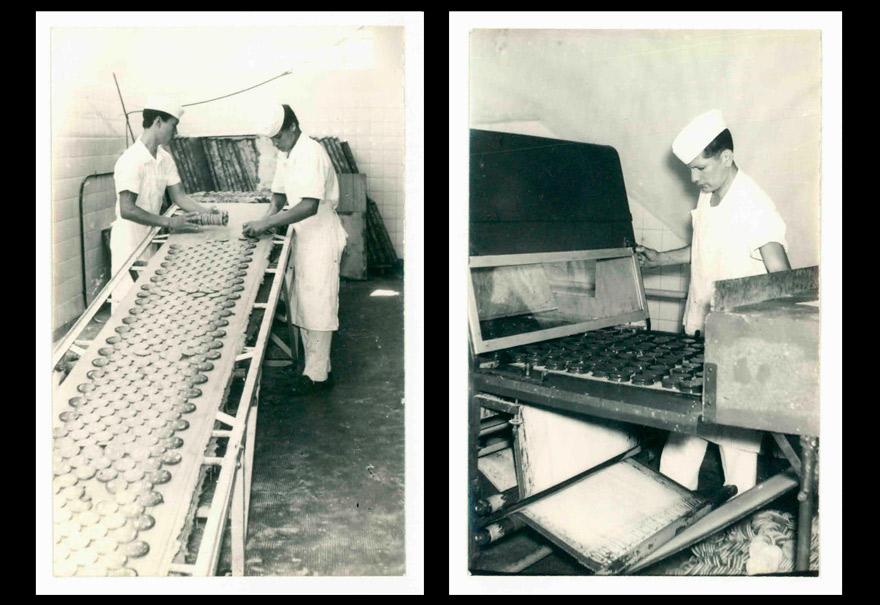 Quinto aniversario: así se producían los alfajores Jorgito en 1965.