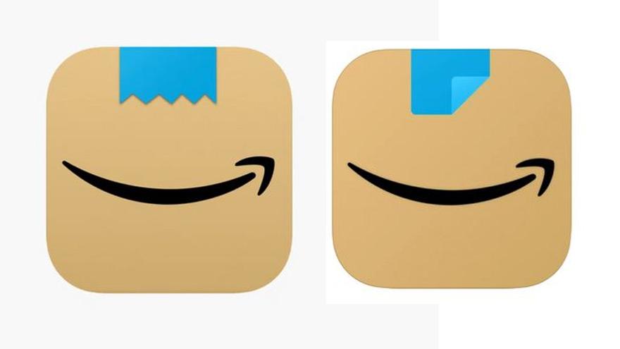 App de Amazon: a la izquierda, el logo
