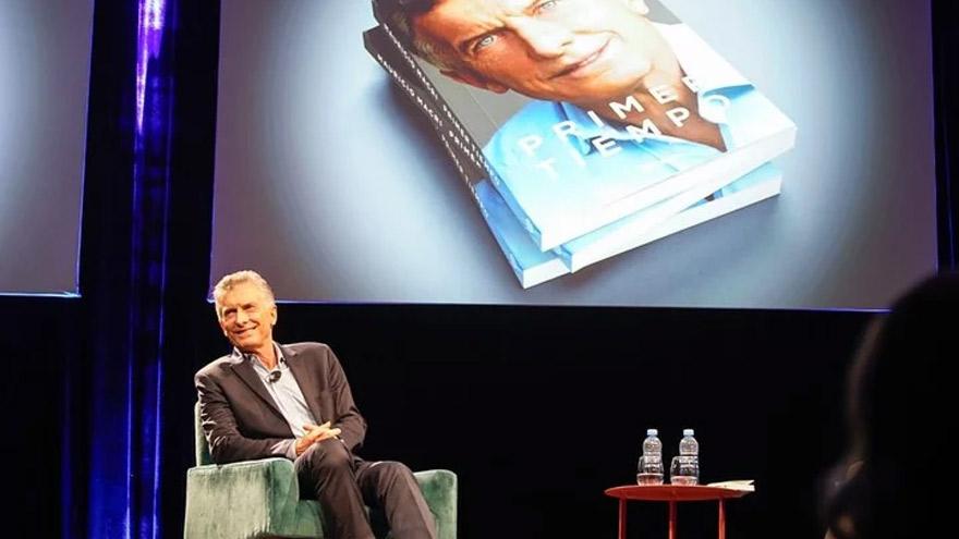 Macri en la presentación de su libro, Primer tiempo.