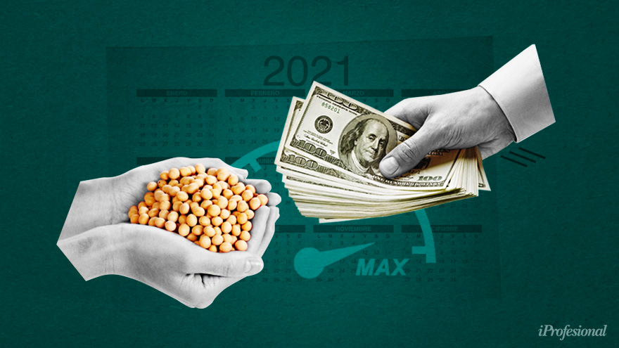 The liquidation of soybeans favored the accumulation of reserves by the BCRA.