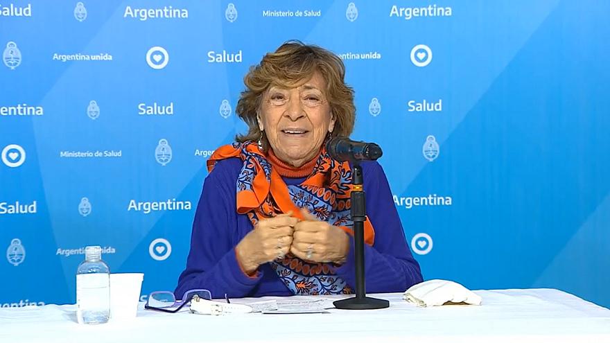 Mabel Bianco, en plena exposición durante el informe diario de este miércoles