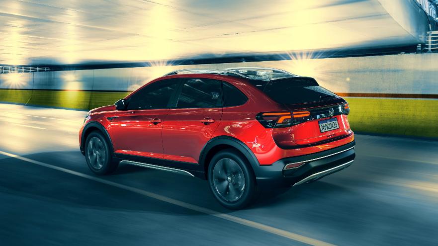 Así es el Volkswagen Nivus de atrás.