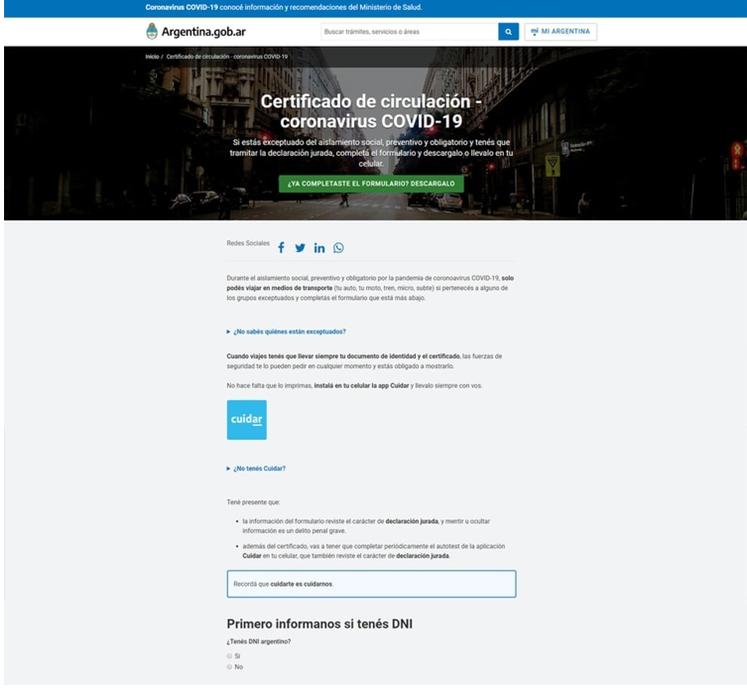 El permiso se tramita a través de la página web