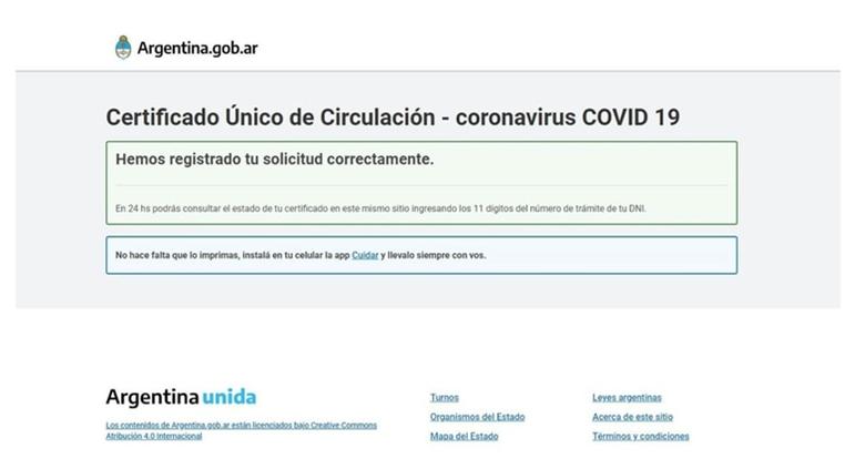 La solicitud se registra y, a las 24 horas, se debe consultar si ha sido aprobada o no