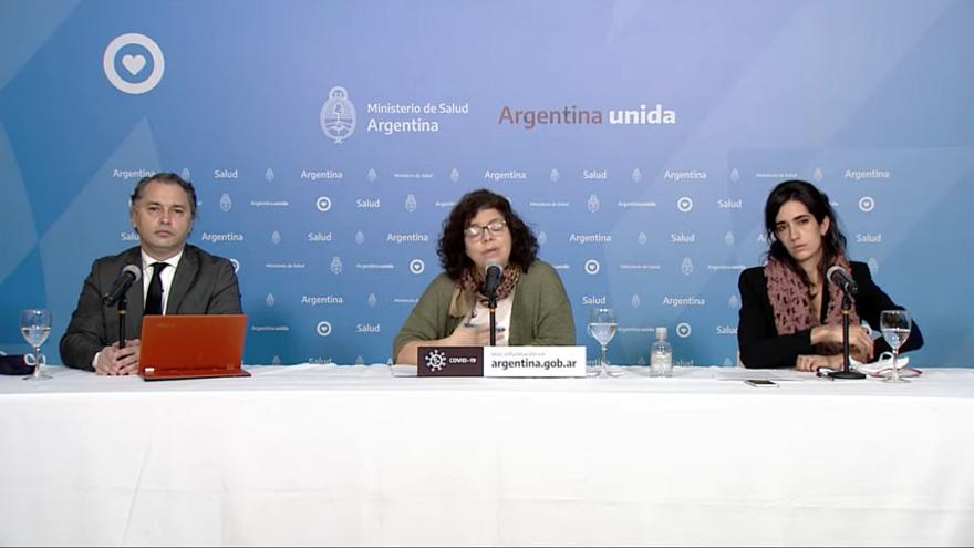El ministerio de Salud brinda un informe diario acerca de la situación del coronavirus en Argentina