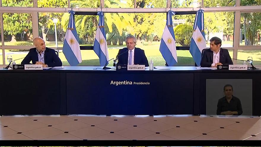Las autoridades argentinas anunciaron una extensión de la cuarentena en ciertas zonas del país