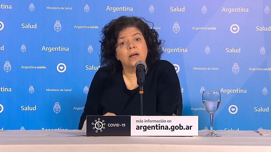 La Lic. Carla Vizzotti encabeza el informe diario del ministerio de Salud  al frente del informe todos los días