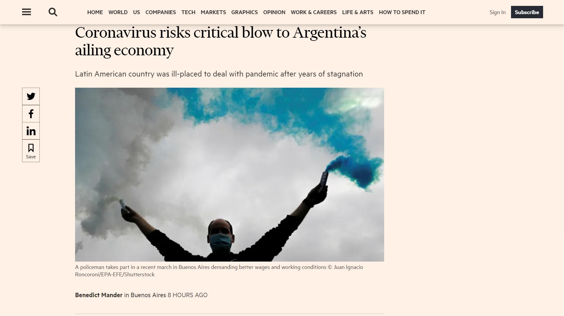 Este es el artículo del Financial Times
