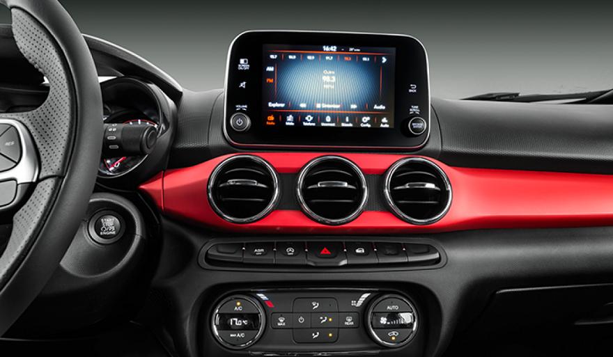 Fiat Argo, con pantalla flotante.