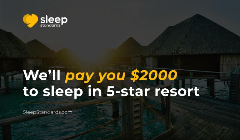 Sleep Standards pagará a los candidatos seleccionados US$2.000 más gastos para dormir en hoteles 5 estrellas y contar su experiencia